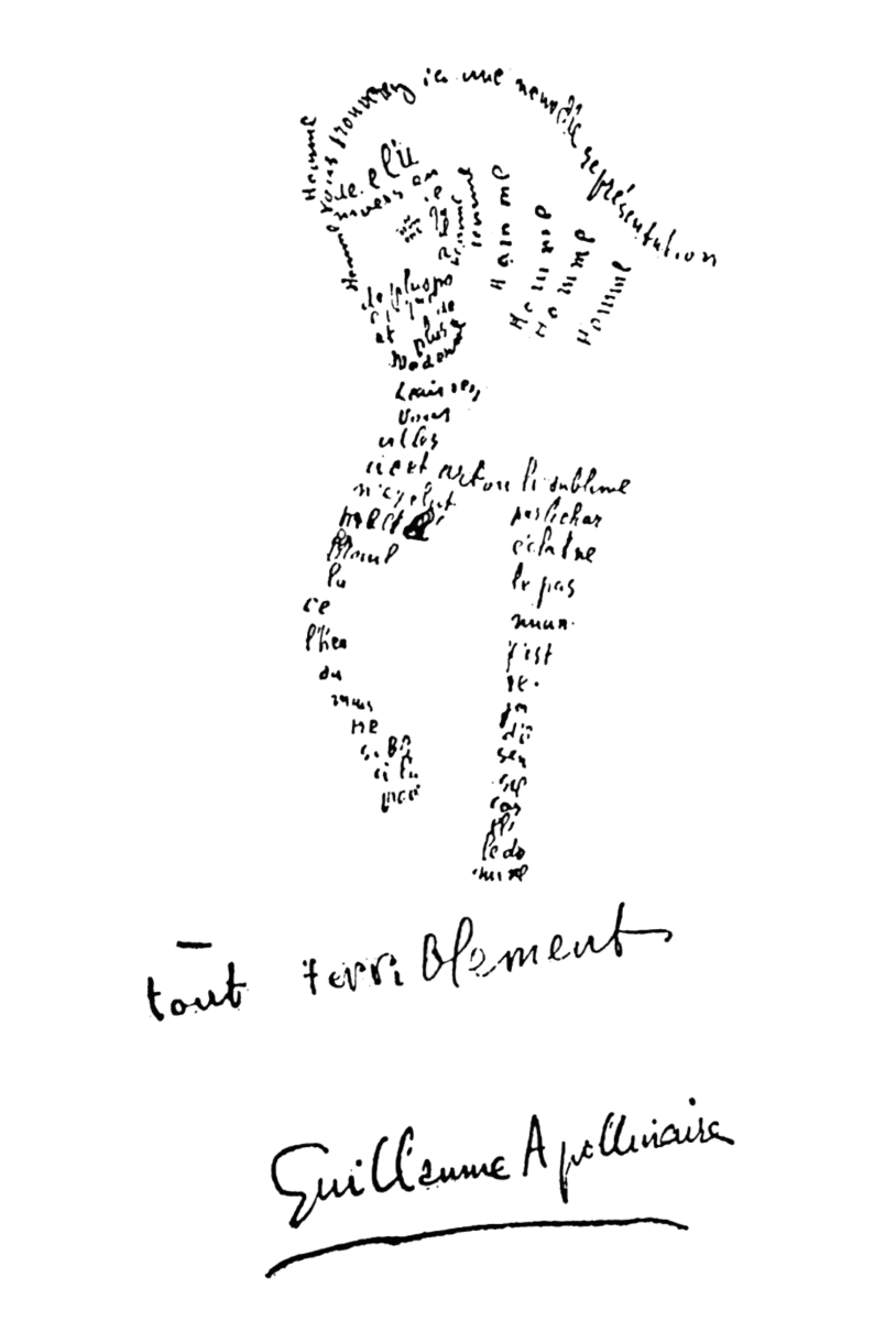 guillaume-apollinaire-calligramme-cheval